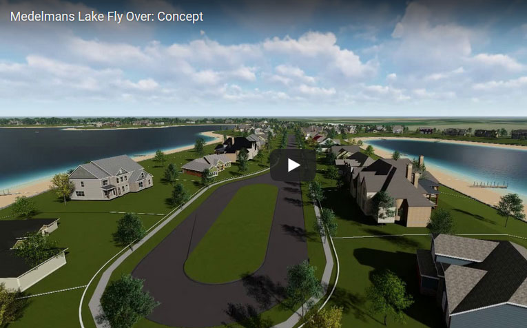Medelmans Lake Fly Over: Concept